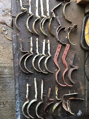 Job Lot Of Reclaimed Vintage Iron Gutter Brackets.