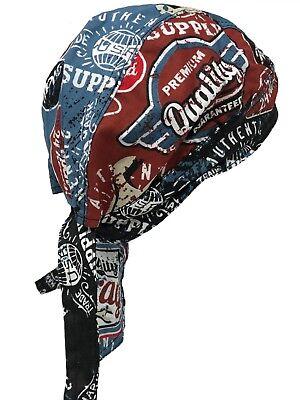 Americana Mechanic Garage Doo Rag Durag Head Wrap Skull Cap Sweatband Biker