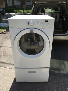 "27"" Frigidaire electric dryer with pedastle"