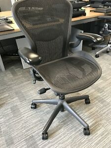 Herman Miller Aeron Chair Size B Fully Loaded With Free Delivery Uk