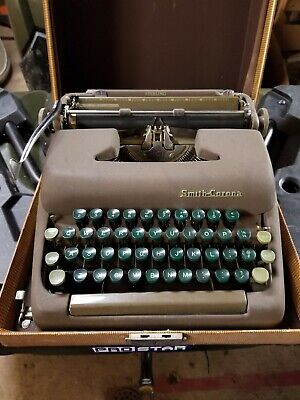 Used, Vintage L.C. Smith-corona typewriter with case for sale  Feura Bush