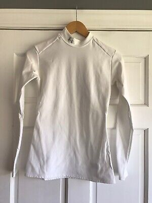 D19 Under Armour Cold Gear Mock White Womens Size Large