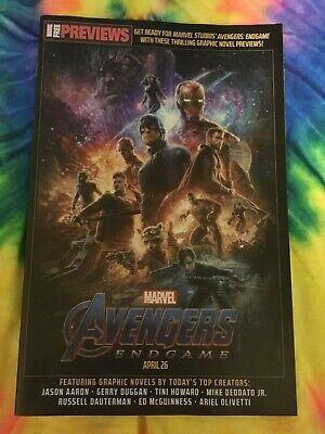 AVENGERS END GAME PREVIEWS COMIC PROMO NM