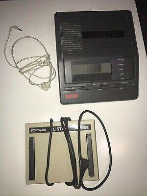 Lanier Vw-110 Cassette Transcriber With Pedal Headphones Vw110