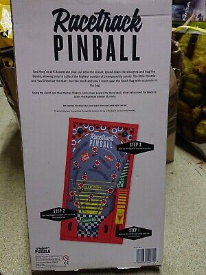 Professor Puzzle Wooden RACETRACK Pinball / Bagatelle Game