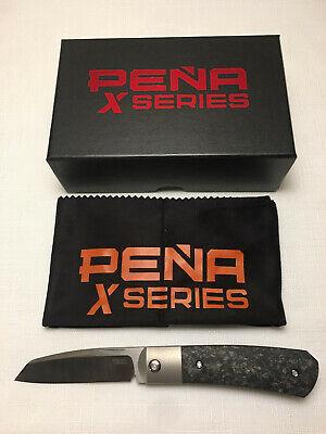 Pena Knives X-Series Apache Front Flipper, Carbon Fiber Handle, Anodized Clip