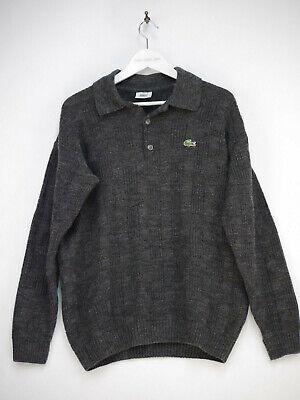 Lacoste Vintage Retro Pullover Strickpullover Grau Herren Größe 5 / L (Lacoste-vintage)