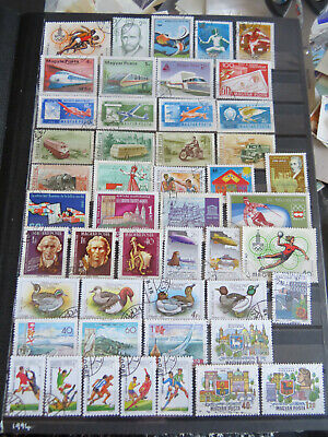 HUNGARY STAMPS LOT 1 X 139 CANCELLED NO GUM STAMPS