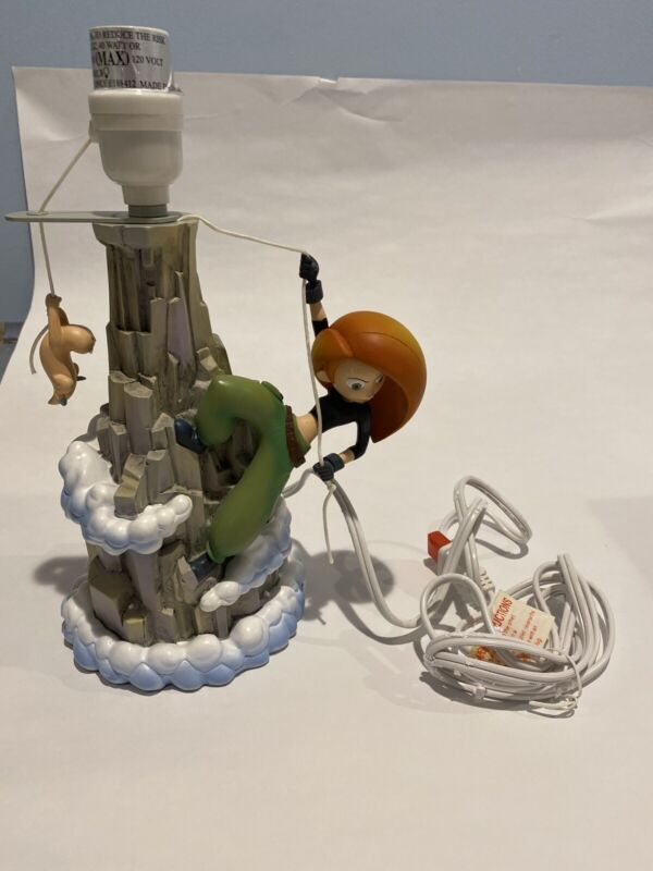 Kim Possible Disney Night Table Lamp Pull Cord Mountain Climbing Rufus Mole Rat