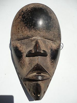 African Hand Carving Wood Mask Dan Tribe Ivory Coast, Liberia vintage carving