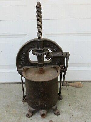 Antique Vintage 8 Qt Sausage Stuffer Cast Iron Fruit Lard Press Enterpriseworks