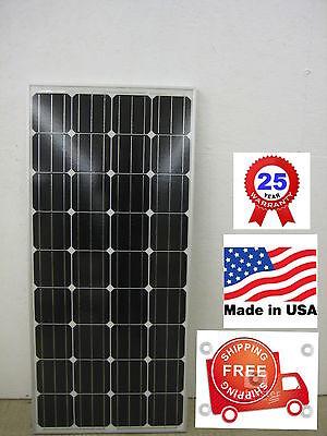 1- solar panel 160 watt 12 Volt Battery Charger  Off Grid RV Boat 160 watt total