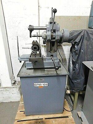 Barker Am Horizontal Milling Machine W Heavy Duty Cabinet 5c Collet Fixture