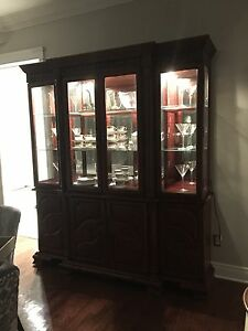 Cherry Wood Display Cabinet (Negotiable)