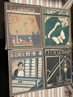 Fortune Magazine 12 Issues from 1935, 1936, 1938 & 1939 Vintage Advertising Art