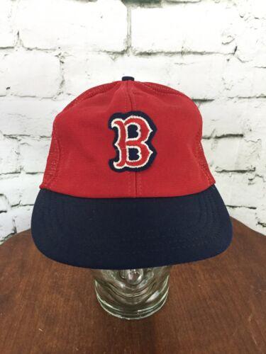 MLB Boston Red Sox Vintage Ball Cap Hat Red Black