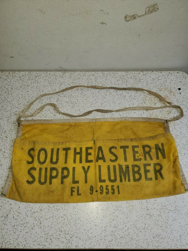 Vintage SOUTHEASTERN SUPPLY LUMBER Nail Pouch FL 9-9551