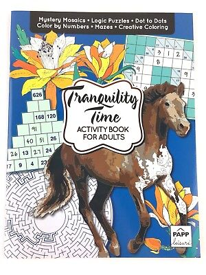 Tranquility Time Activity Book for Adults Color By Number Mazes Dot to Dots - Number Mazes