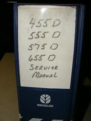 New Holland 455d 555d 655d 575d Backhoe Loader Service Repair Shop Manual Oem