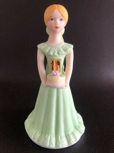 ENESCO - Blonde Growing Up Porcelain Birthday Girl - 11 Year Old Figurine