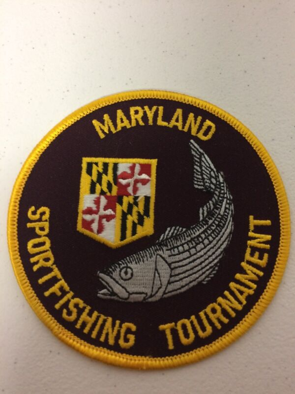 Vintage Embroidered Patch Maryland Sportfishing Tournament Fishing