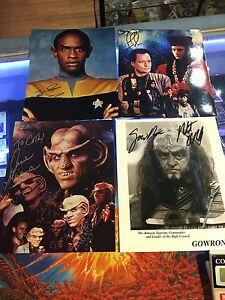 Star Trek Autographed 8x10 photos