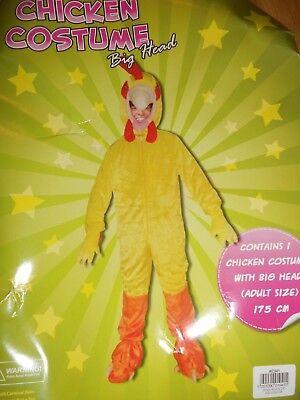 CHICKEN COSTUME BIG HEAD FANCY DRESS BRAND  (Chicken Head Kostüm)