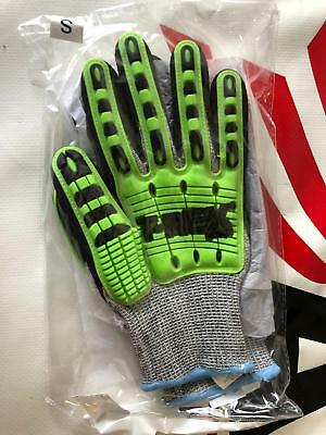 Magid T-REX Flex Series TRX450 Lightweight Knit Impact Glove – Cut Level A6 (S) - T Rex Gloves