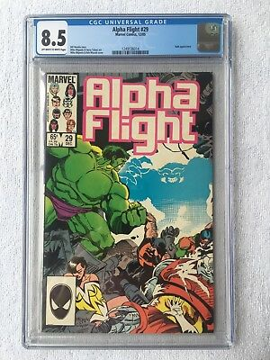 CGC 8.5 ALPHA FLIGHT #29 .. HULK .. MIKE MIGNOLA COVER & ART .. 1985 ..