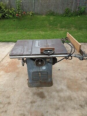 Delta Unisaw Rockwell 10 Table Saw 85-110 Wired For 230 Volt Free Shipping