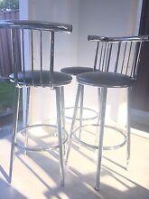 NEAR PERFRCT - Modern Black Leather High Chair Bar Stool Croydon Burwood Area Preview