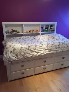 Bed frame with shelf