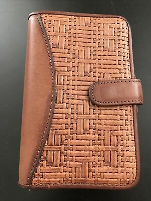 Wilsons Classic Brown Fine Genuine Leather Plannerbinder Folio Cover 0.5 Rings