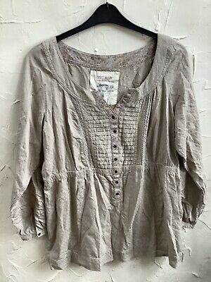 Size 20 Falmers Heritage New 🏷Tunic/top/blouse Beige Thick Woven Cotton