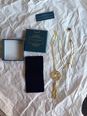 Elie Saab Le Parfum Royal Gold Plated Necklace Boxed Brand New