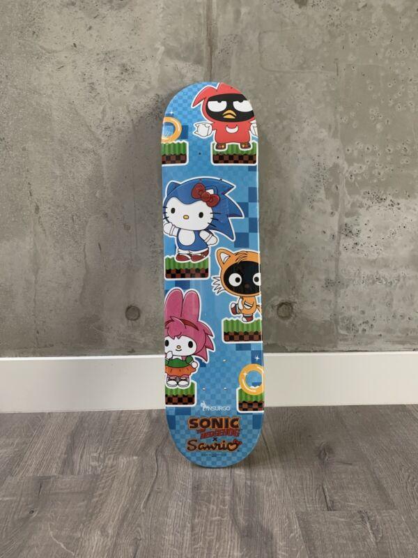 Sanrio Hello Kitty X Sega Sonic Hedgehog Nsurgo SDCC 2016 Skateboard Deck New!