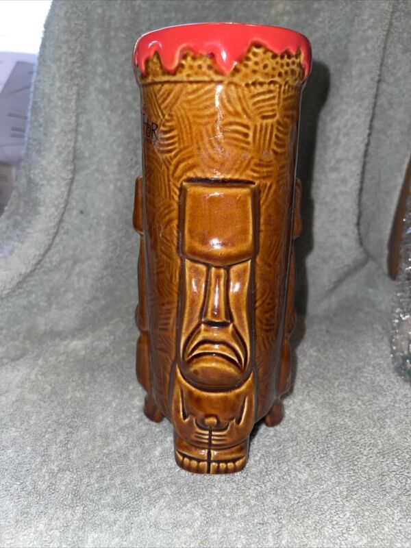 🔥 SQUID THOR Three 3 Faces Volcano Moai Tiki Mug Tiki Farm SIGNED SOLD OUT