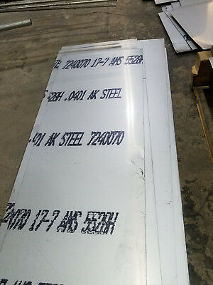 17-7 Ph Stainless Steel Sheet .040 Thick X12w X36l Mtrs Included