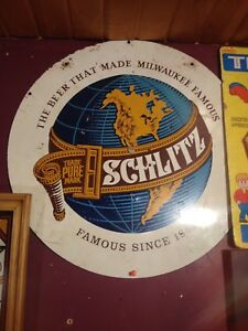 Vintage Schlitz Tin Beer Sign