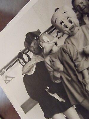 Vintage B&W Halloween Costume Photograph