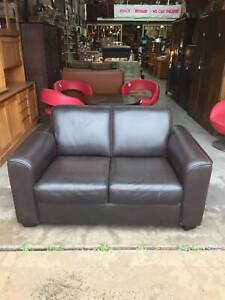brown leather sofa,2 seater sofa, small leather sofa WE CAN DELIVER