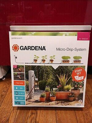 Gardena 13002-20 Micro-drip System Starter Set, for 7 Flower Pots and 3 Planters