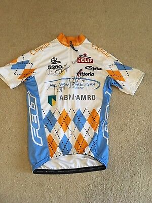 Team Slipstream Chipotle Pro Cycling Team Autographed Jersey 65309779f