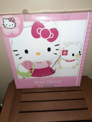 Lambs & Ivy Sanrio Hello Kitty & Puppy WALL DECOR by Bedtime Originals Wood RARE