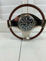 Vintage Kensington Station London Standing Clock Display RARE Steering Wheel