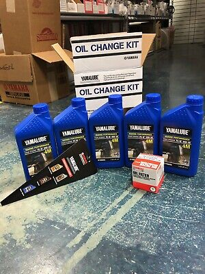 Yamaha 4 Stroke Outboard Oil Change Kit F150-200 HP 10W30 Boat Motor Maintenance