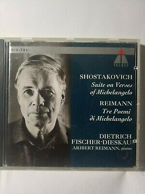 Shostakovich, Suite on Verses of Michelangelo, Reimann, Tres Poemi -