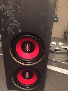 Sony 600 Watts x 2 woofers in box