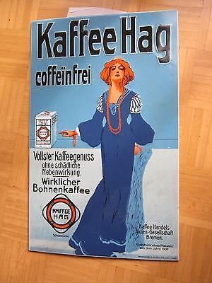 Werbeschild der Firma Hag (KaffeeHag coffeinfrei)