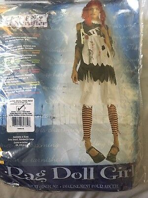 Rag Doll Horror Women's Adult Costume Halloween Shirt Fancy Dress Rubies XS